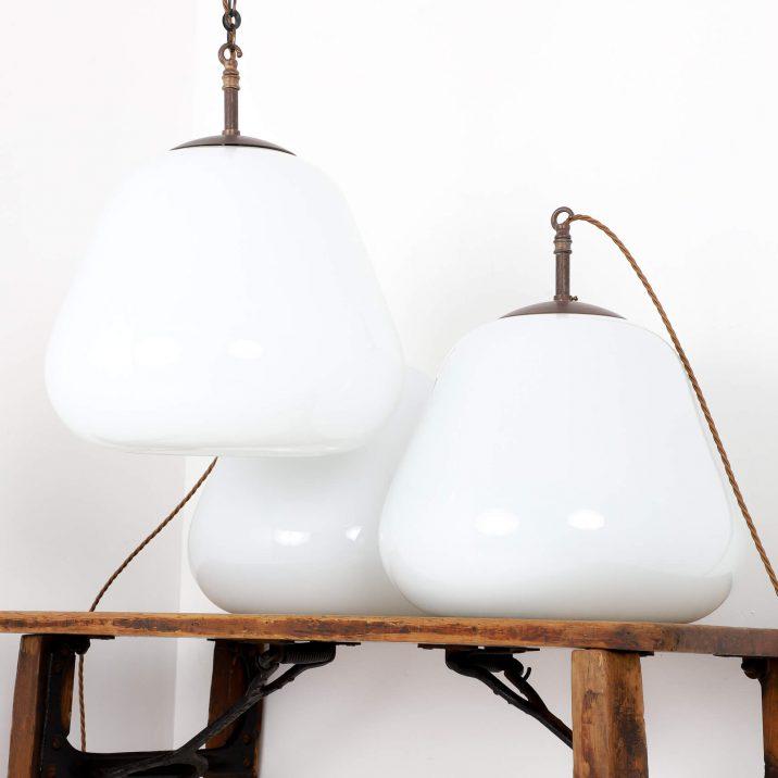 antique opaline pendant lights