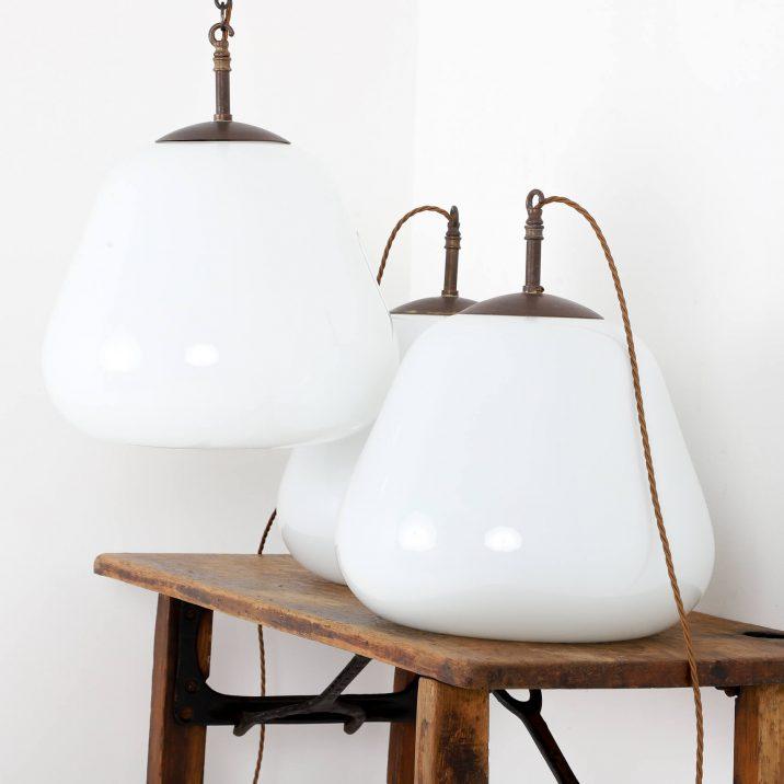 antique opaline pendant light