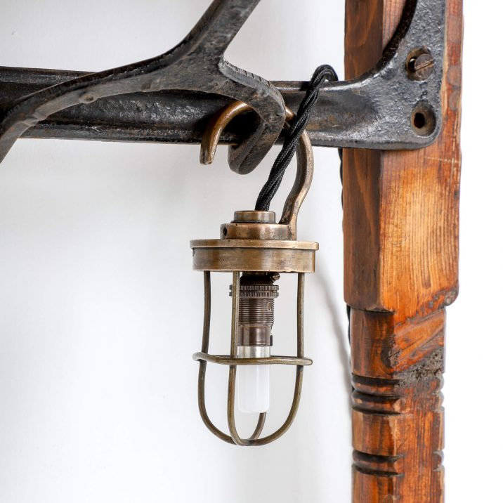 antique military inspection light