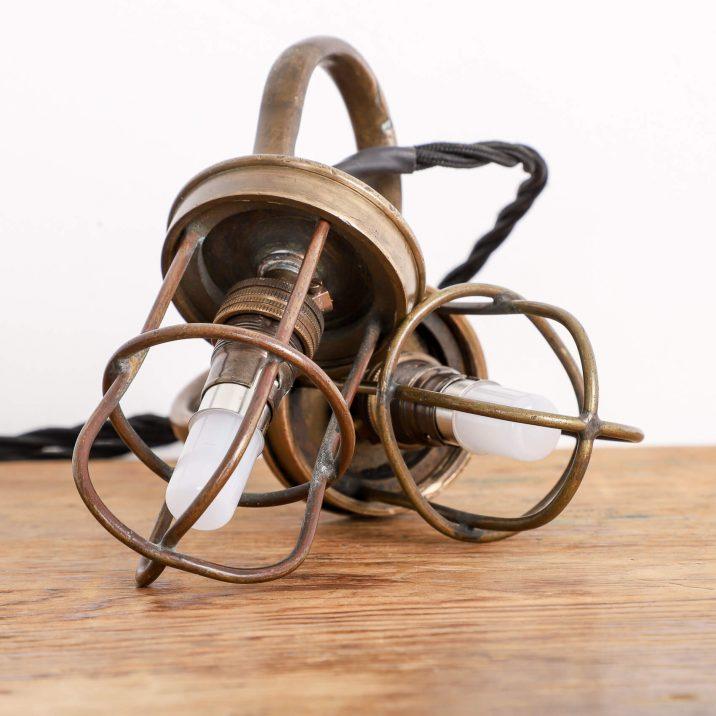 military antique lamp