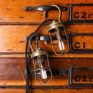antique military lamp