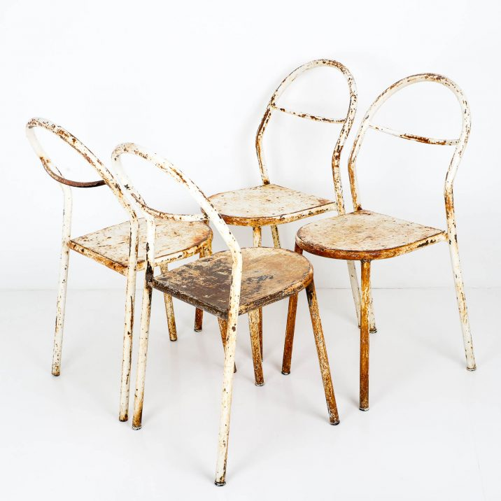 antique rene herbst chairs