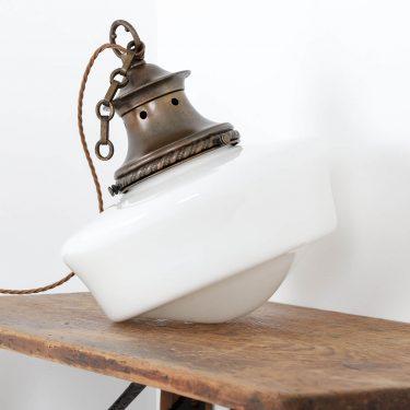 antique opaline light