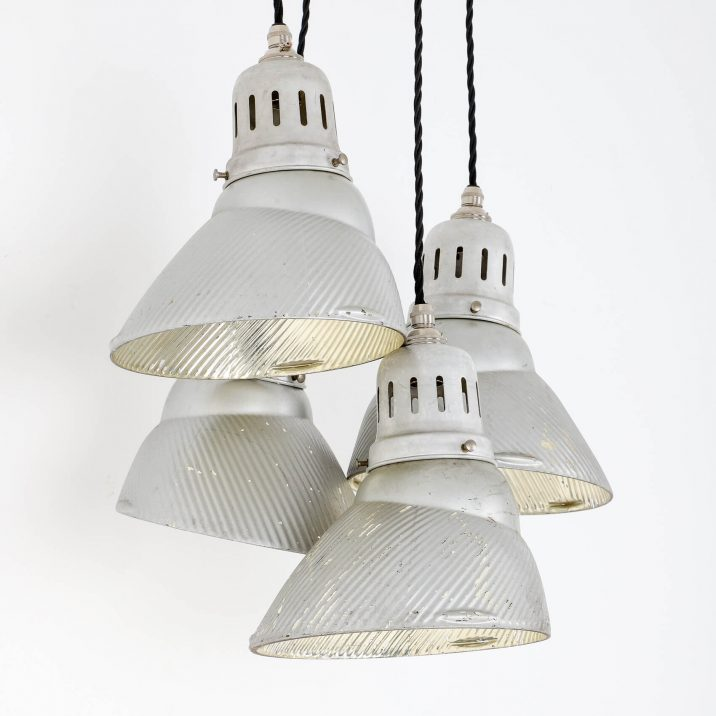 industrial mirrored pendant light