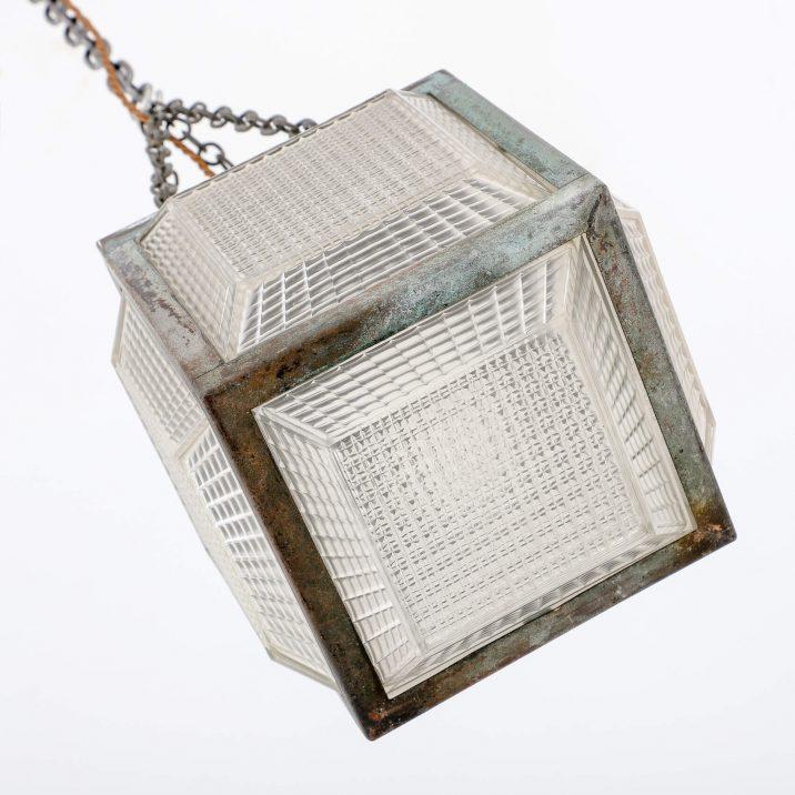antique cube light