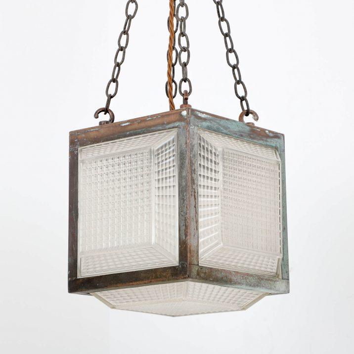 antique cube pendant light