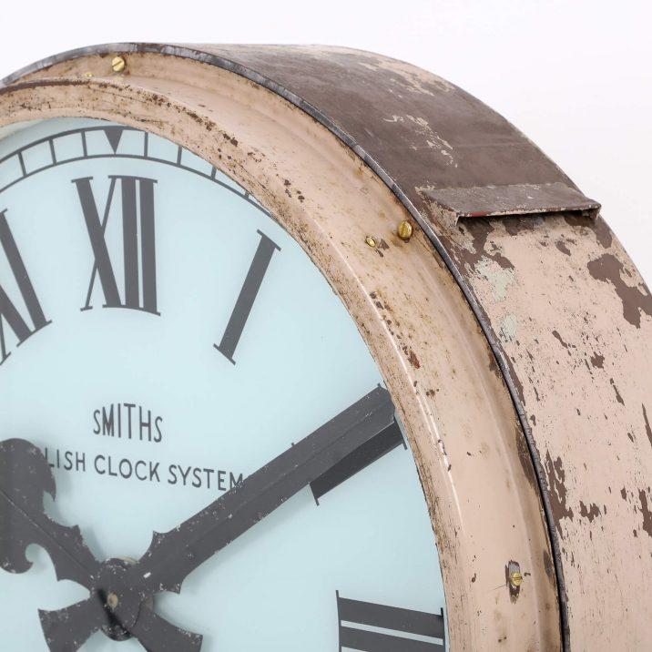 large antique illuminated clock