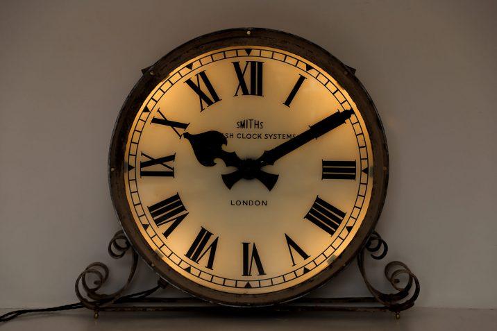 large antique smiths station clock