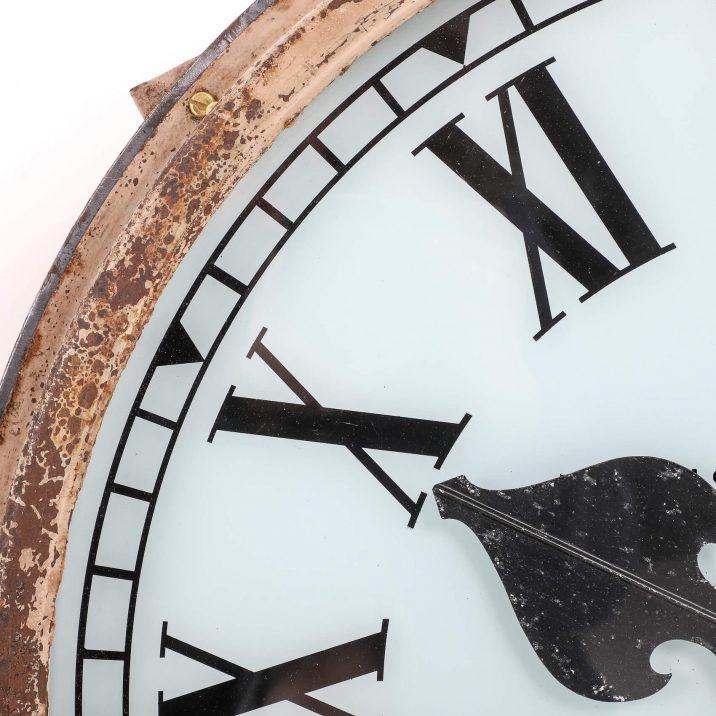 large antique station clock