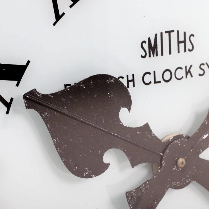 large smiths antique station clock