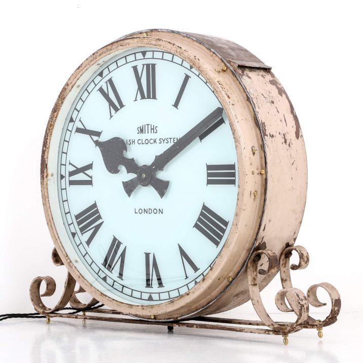 large smiths illuminated clock