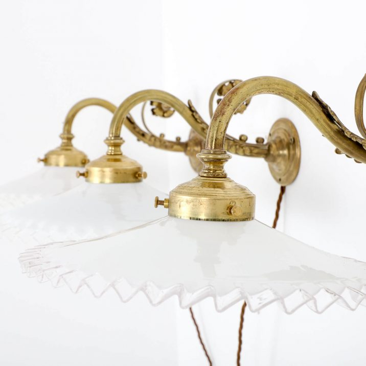 BRASS FRENCH WALL LIGHTS 3 Cooling & Cooling