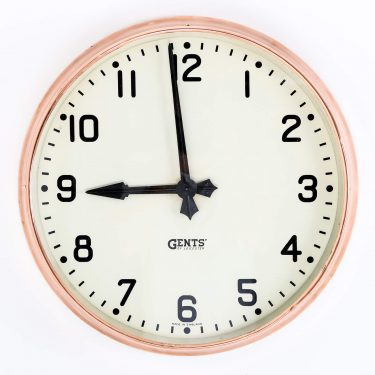 COPPER GENTS WALL CLOCK 1 Cooling & Cooling