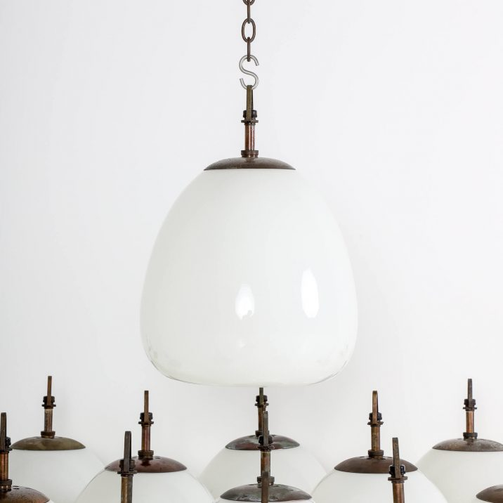 CHURCH OPALINE TULIP PENDANT LIGHT 2 Cooling & Cooling