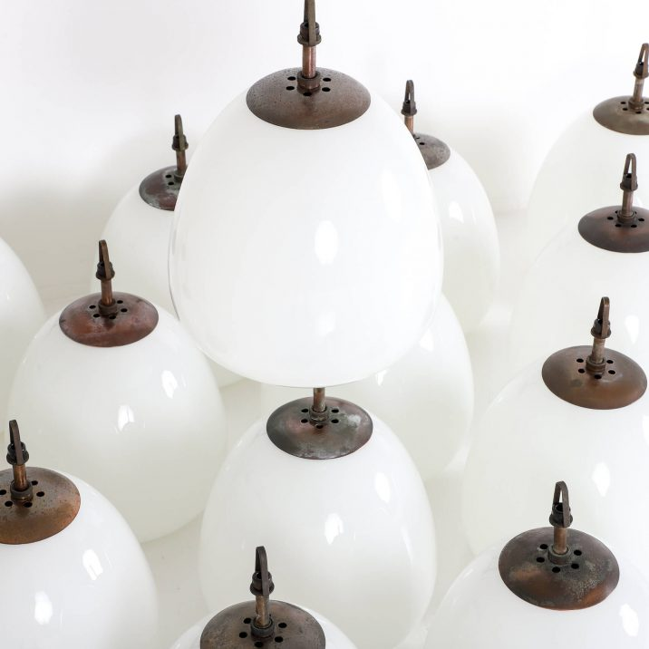 CHURCH OPALINE TULIP PENDANT LIGHT 3 Cooling & Cooling