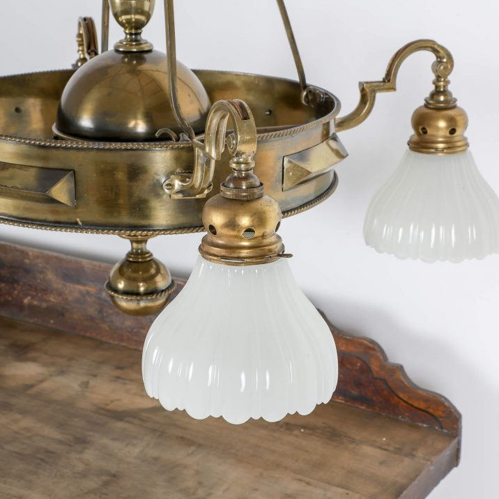 JEFFERSON CO. MOONSTONE CHANDELIER 6 Cooling & Cooling
