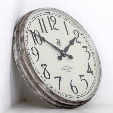 LARGE 28″ METAL INTERNATIONAL TIME RECORDINGS WALL CLOCK 1 Cooling & Cooling