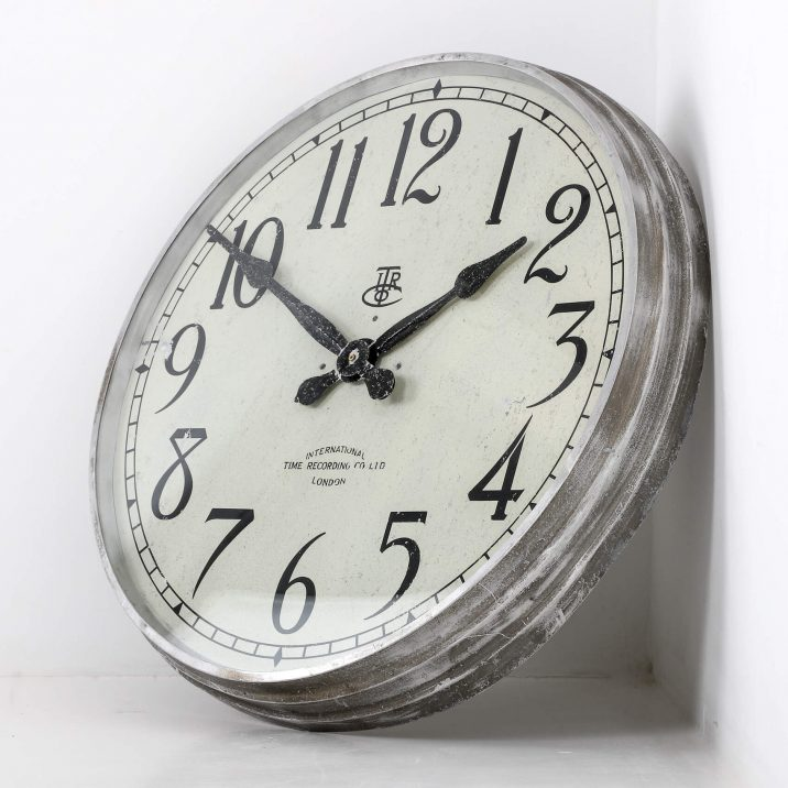 LARGE 28″ METAL INTERNATIONAL TIME RECORDINGS WALL CLOCK 4 Cooling & Cooling