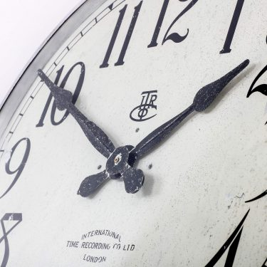 LARGE 28″ METAL INTERNATIONAL TIME RECORDINGS WALL CLOCK 6 Cooling & Cooling