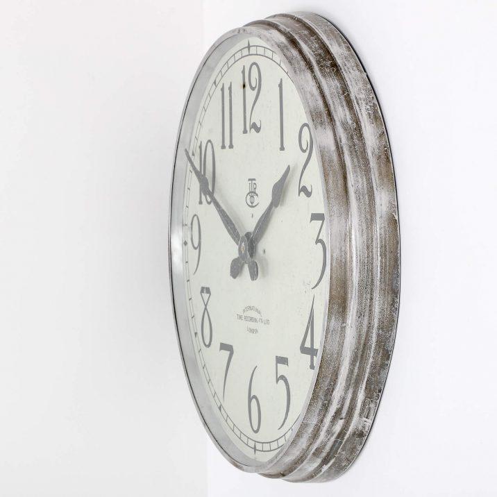 LARGE 28″ METAL INTERNATIONAL TIME RECORDINGS WALL CLOCK 7 Cooling & Cooling