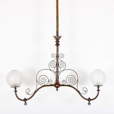 LARGE VICTORIAN DOUBLE GAS LIGHT 1 Cooling & Cooling