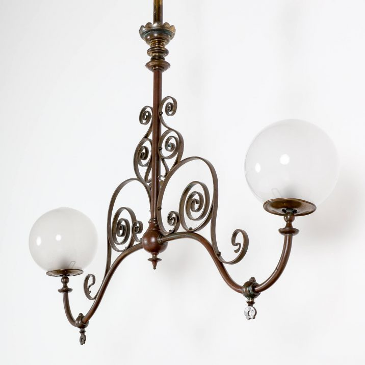LARGE VICTORIAN DOUBLE GAS LIGHT 6 Cooling & Cooling