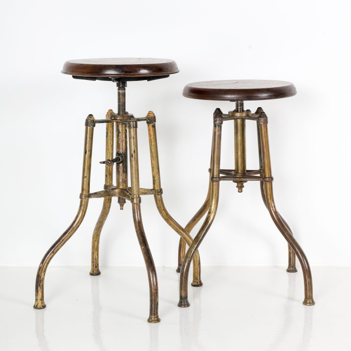 VINTAGE BRASS PIANO STOOLS 7 Cooling & Cooling