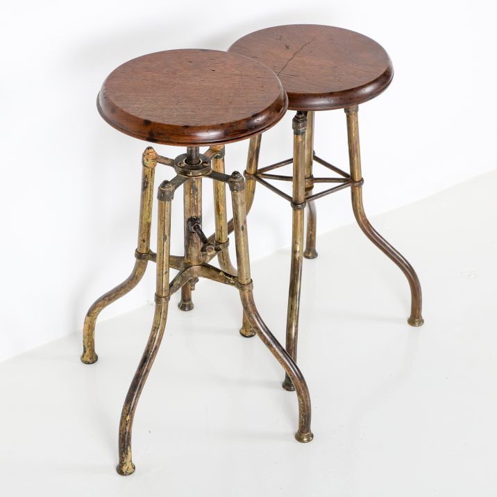 VINTAGE BRASS PIANO STOOLS 8 Cooling & Cooling