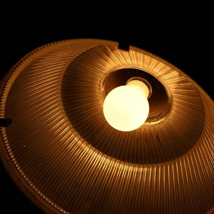 VINTAGE INDUSTRIAL HOLOPHANE PENDANT LIGHT 7 Cooling & Cooling