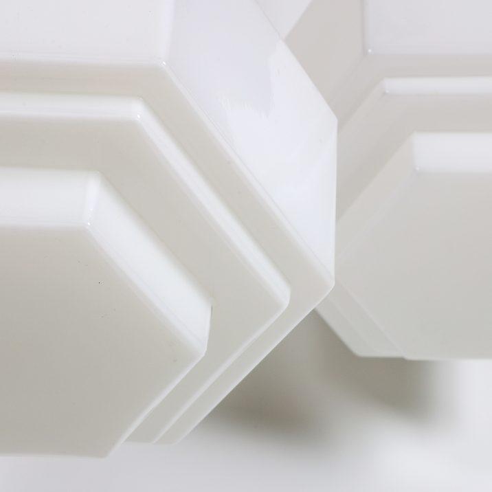 ART DECO HEXAGONAL OPALINE 4 Cooling & Cooling