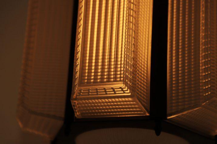 LARGE ANTIQUE HOLOPHANE PAGODA LANTERN 15 Cooling & Cooling