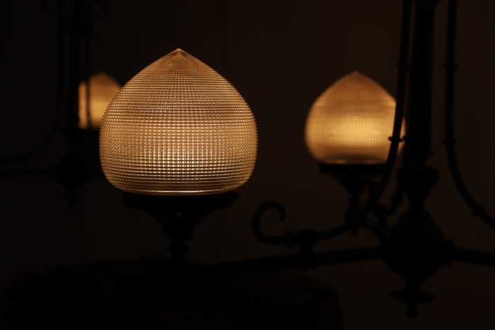 HOLOPHANE GAS LIGHT CHANDELIER 16 Cooling & Cooling