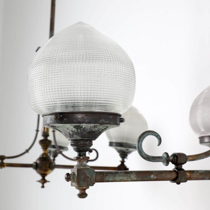 HOLOPHANE GAS LIGHT CHANDELIER 2 Cooling & Cooling