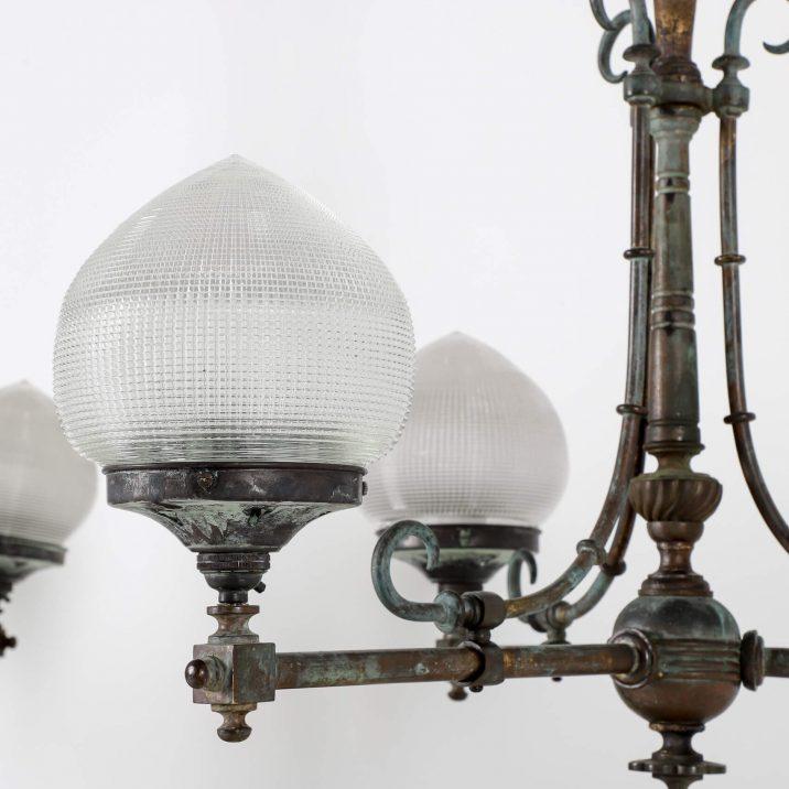 HOLOPHANE GAS LIGHT CHANDELIER 4 Cooling & Cooling