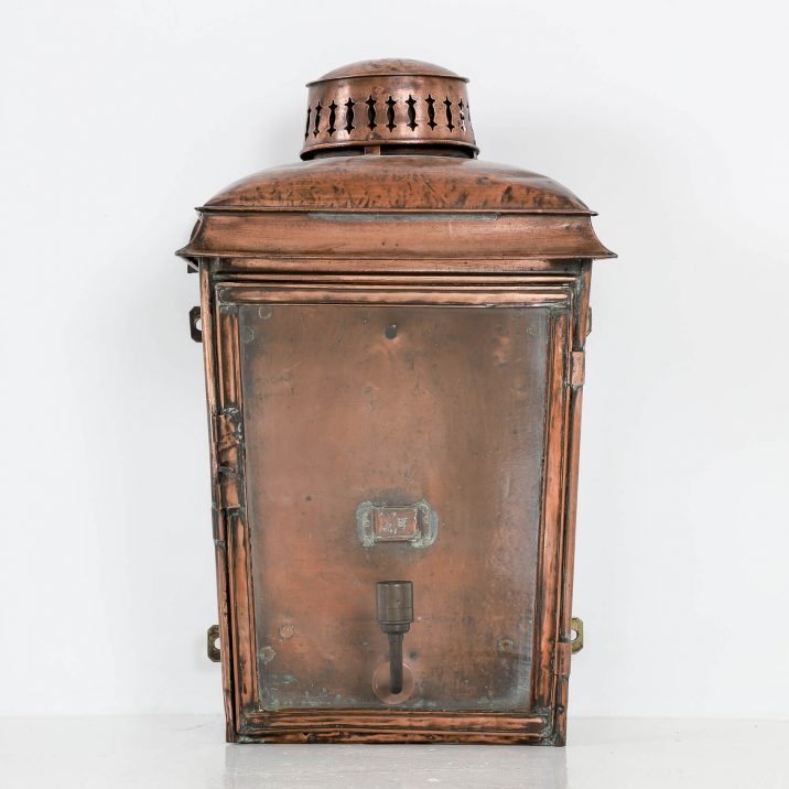LARGE COPPER RAILWAY WALL LANTERN 1 Cooling & Cooling