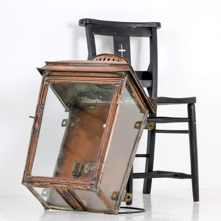 LARGE COPPER RAILWAY WALL LANTERN 10 Cooling & Cooling