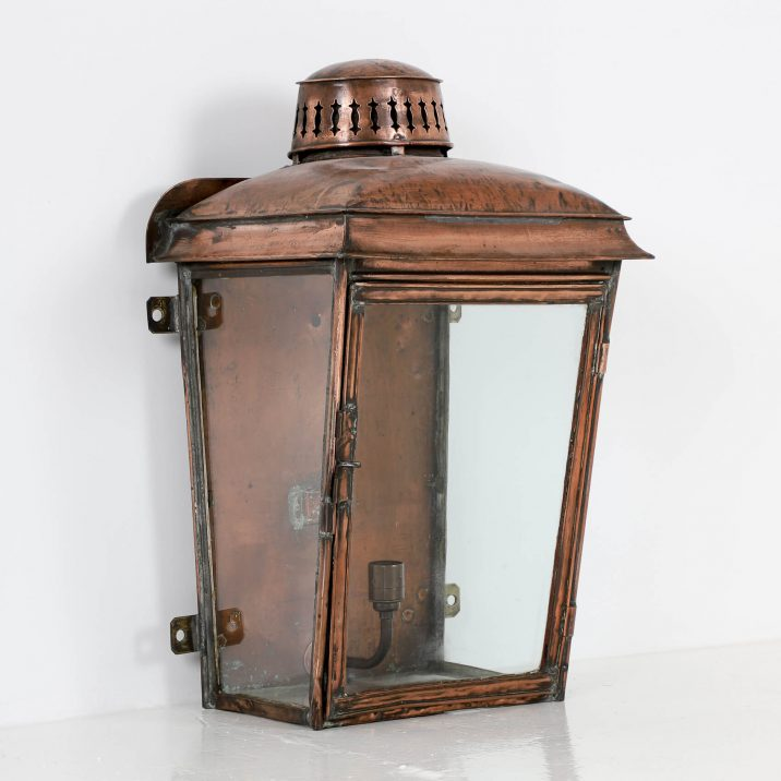 LARGE COPPER RAILWAY WALL LANTERN 2 Cooling & Cooling