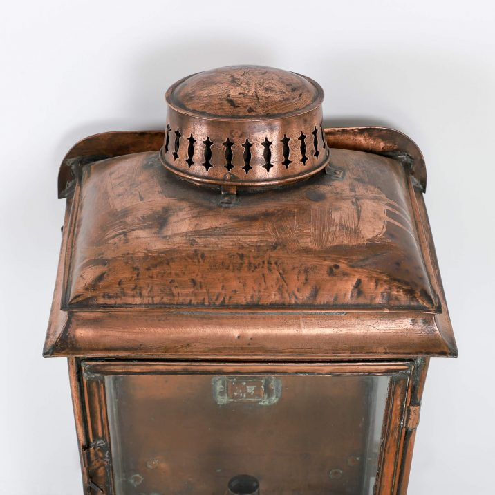 LARGE COPPER RAILWAY WALL LANTERN 3 Cooling & Cooling