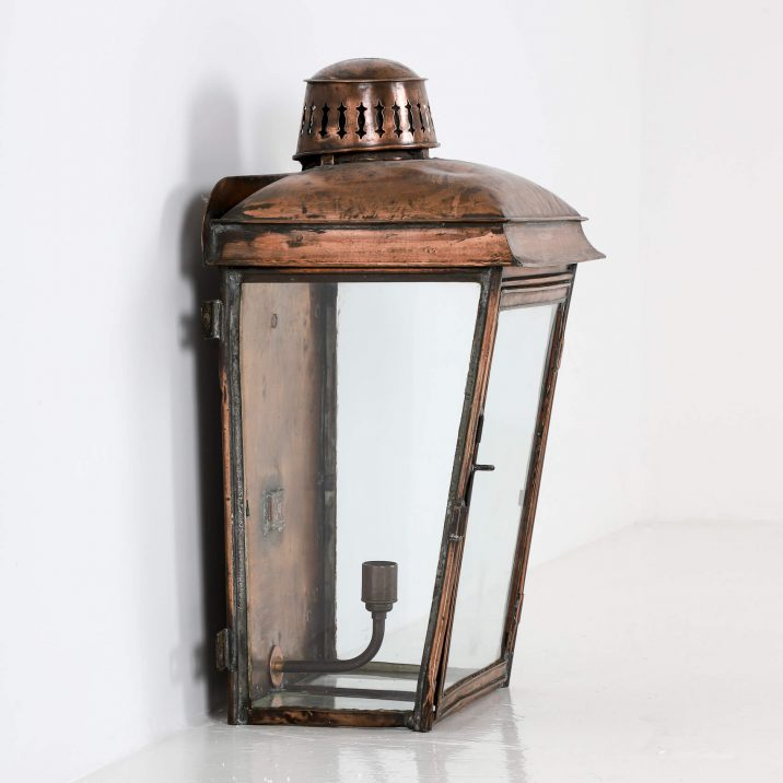 LARGE COPPER RAILWAY WALL LANTERN 4 Cooling & Cooling