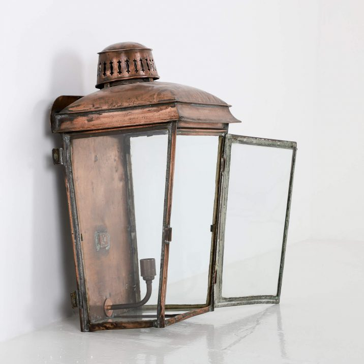 LARGE COPPER RAILWAY WALL LANTERN 7 Cooling & Cooling