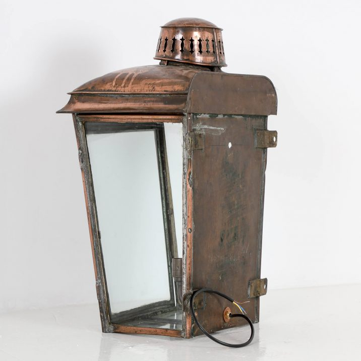LARGE COPPER RAILWAY WALL LANTERN 9 Cooling & Cooling