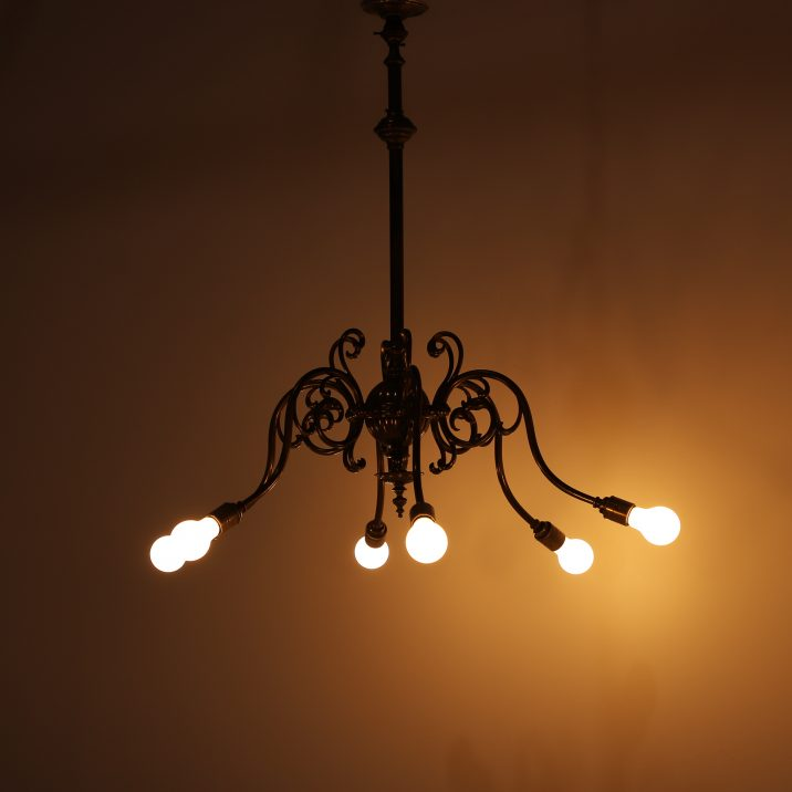 SIX ARM GAS CHANDELIER 10 Cooling & Cooling