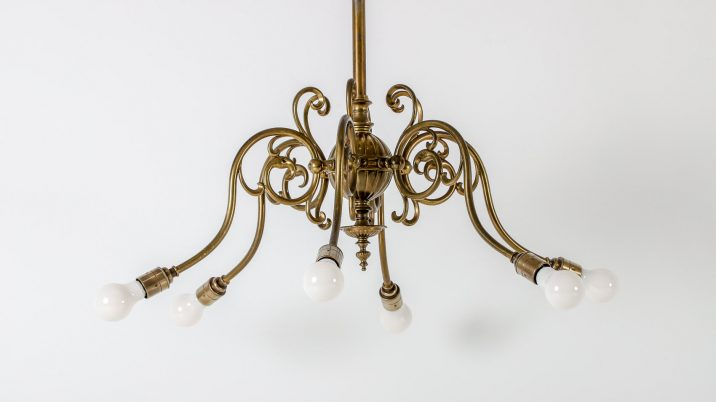 SIX ARM GAS CHANDELIER 4 Cooling & Cooling