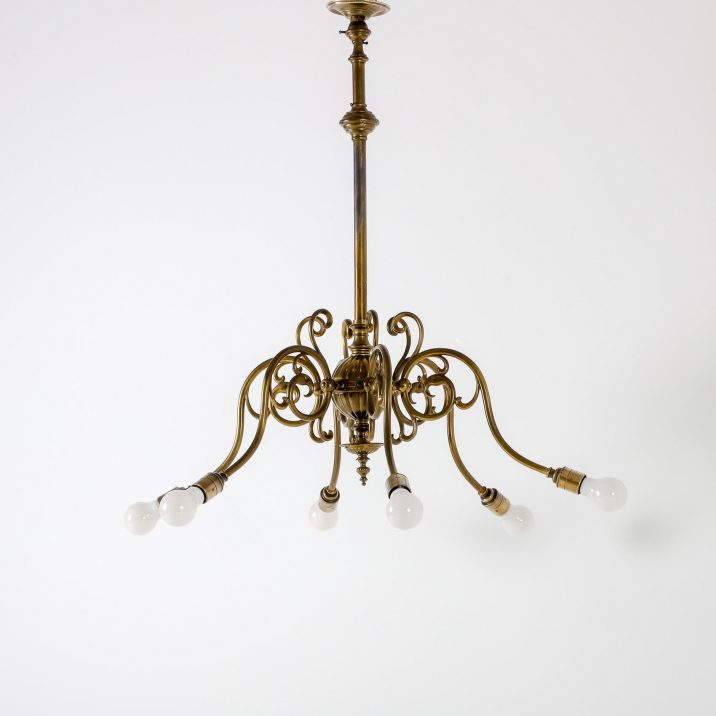 SIX ARM GAS CHANDELIER 9 Cooling & Cooling